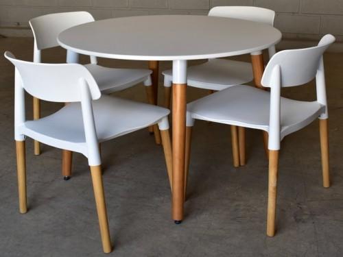 Mesa de comedor redonda 90cm Eames