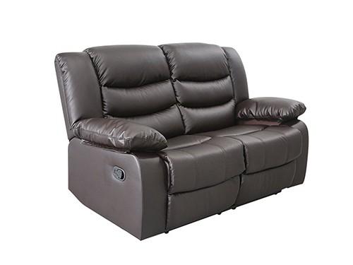 Sillon Sofa Reclinable de 2 Cuerpos Marron Beverly