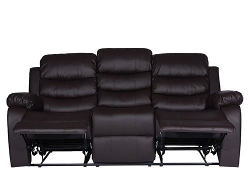 Sillon Sofa Reclinable de 3 Cuerpos Negro Beverly