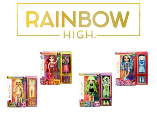 Muñeca Rainbow High Original con Accesorios Varios Modelos
