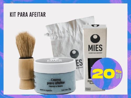 Kit para Afeitar: espuma, brocha y perfume sólido