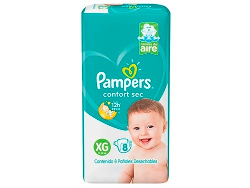 Pañales Confort Sec | Hiperpack | Talle XG - PAMPERS