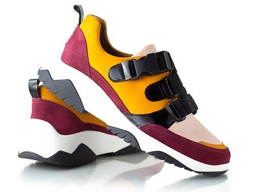 Zapatillas Mujer Hot sale 2021 con elásticos bordó La Leopolda