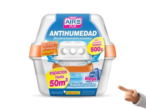 Antihumedad Aromatizador Placares Aire Pur Mega Involcable x 500 Grs