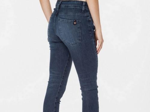 Jean De Mujer Fit Skinny Tiro Medio Azul Tay Blue Florence Wanama
