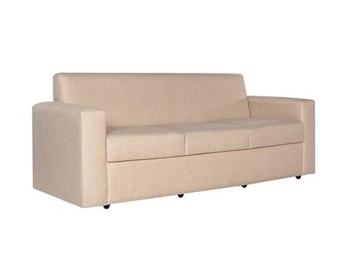 Sillon Sofa Clasico de 3 Cuerpos Beige Catania