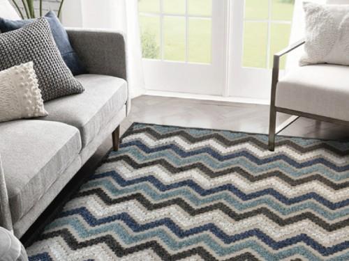 Alfombra Carpeta Tapete Tonos Azules y Grises 160x235cm varios diseños