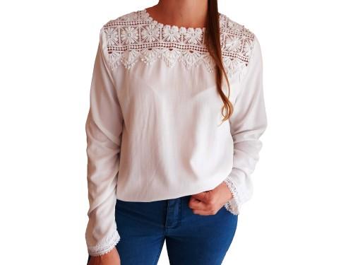Blusa de Mujer Bordada Broederie Romántica hasta Talle XL