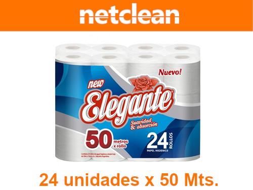 Papel Higiénico Elegante 50M x 24u