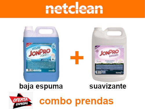 Jabón Jon Pro Baja Espuma 5L + Jon Pro Suavizante 5L