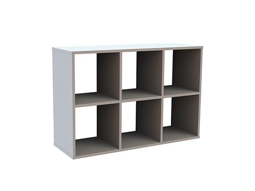 Modulo Organizador 6 Cubos Blanco Centro Estant