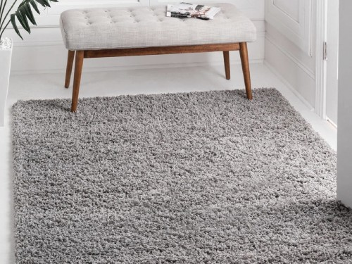 Alfombra Carpeta Lisa Pelo Largo 160x235cm Shaggy Varios colores