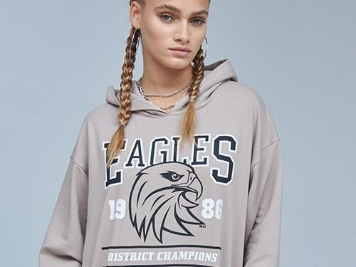 Canguro Eagle Buzo Oversize Con Estampa Mujer 47 Street