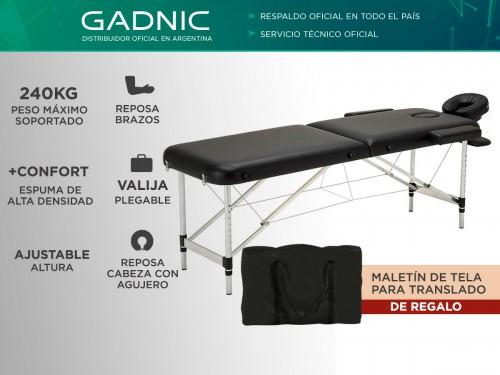 Camilla Para Masajes Gadnic Profesional Hasta 240kg 185x70cm Plegable