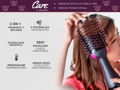 Cepillo Secador de Pelo Care By Gadnic S1200 Pro Frío Calor