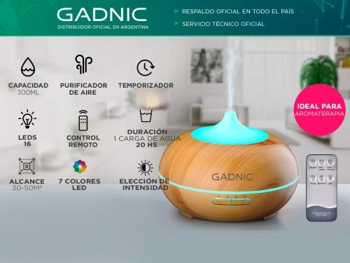 Difusor Gadnic Plus Humidificador Ultrasónico 300ml 20hs 7 Colores