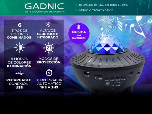 Velador Gadnic Lupar Proyector de Estrellas + Parlante Bluetooth