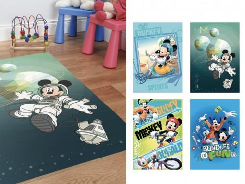 Alfombra infantil Niños Disney Mickey Frozen Cars 67x120cm Premium