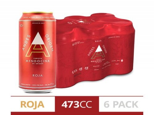 Cerveza Andes Roja 473 Cc Six Pack