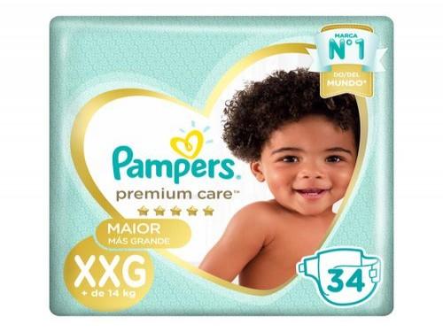 Pañales Pampers Premium Care Xxg 34 U