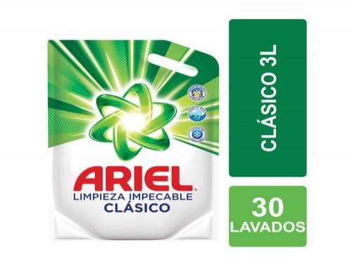 Jabón Líquido Ariel Clásico Limpieza Impecable Recarga 3 L