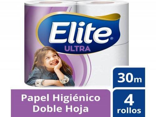 Papel Higiénico Elite Ultra Doble Hoja 30 M - 4 Rollos