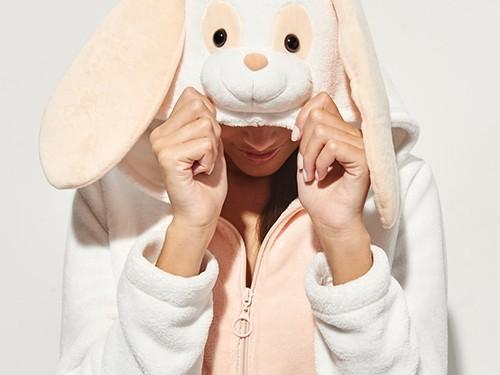 Entero Rabbit Pijama De Piel Sintética De Conejito Mujer 47 Street
