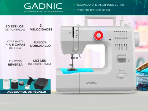 Máquina de Coser Gadnic SW4000 20 Puntadas Portátil