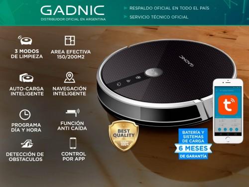 Aspiradora Robot Gadnic Z900 Trapeadora 3 Modos 200m2 App Silenciosa