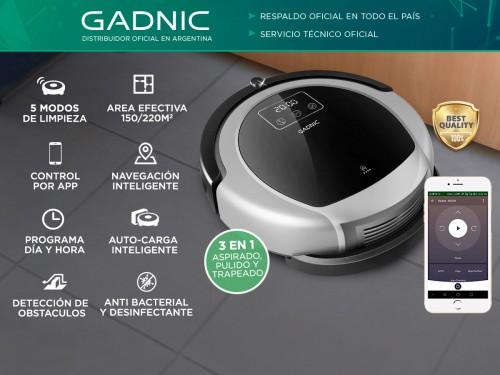 Aspiradora Robot Gadnic Clean Duo Z980 Trapeadora Pared Virtual UV App