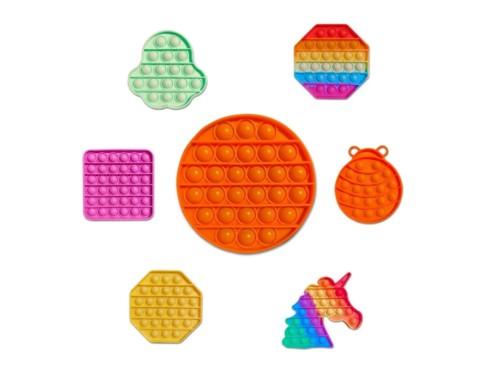 Pop It Toy Sensorial Bubble Anti Estres Silicona Varios Modelos