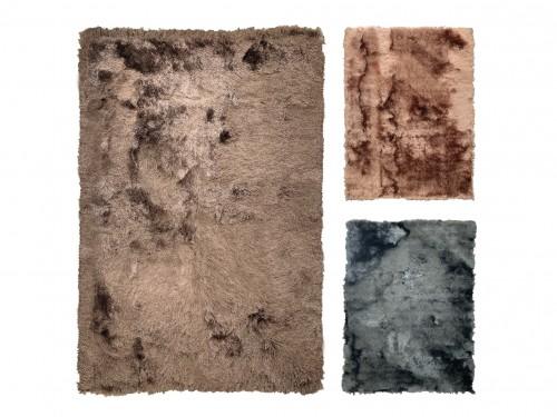 Alfombra Carpeta Moderna Tapete Pelo Largo 150x200cm Varios colores