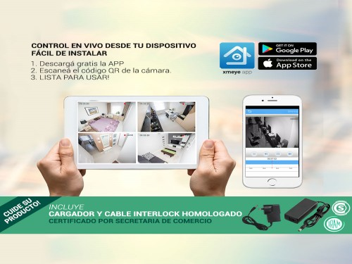 Cámaras de Seguridad + DVR Gadnic x4 Interior / Exterior IP CCTV  1Tb