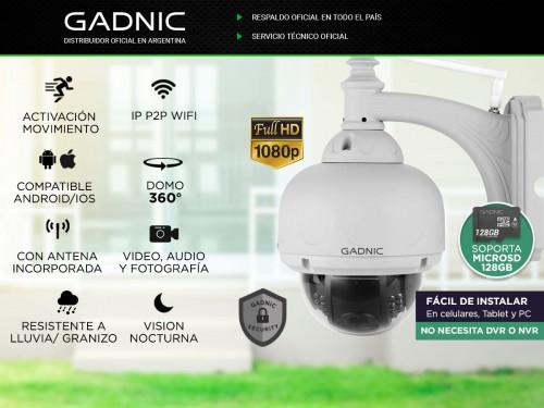 Cámara de Seguridad Gadnic Domo Motorizado IP WiFi Full HD