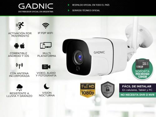 Cámara de Seguridad Gadnic SX37 Bullet Interior / Exterior IP WiFi
