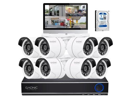 Cámaras de Seguridad x8 + DVR Gadnic SX39 Interior / Exterior CCTV 1Tb