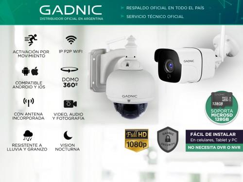 Cámaras de Seguridad Gadnic Kit x 2 WiFi IP Domo Motorizado