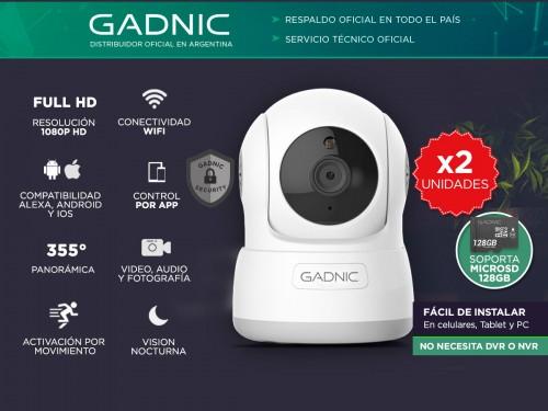 Cámaras de Seguridad Gadnic SX10 x2 IP WiFi Domo Motorizado HD