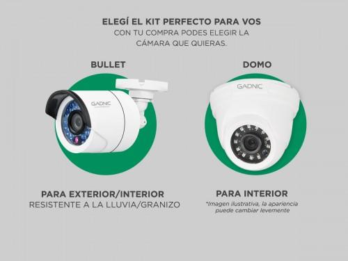 Cámaras de Seguridad x4 + DVR Gadnic SX38 Interior / Exterior CCTV 1Tb