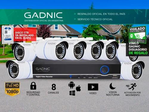 Cámaras de Seguridad x8 + DVR Gadnic SX37X Interior / Exterior 1tb