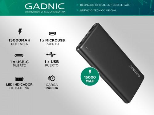Power Banks Gadnic 15000 mAh Cargador Portable