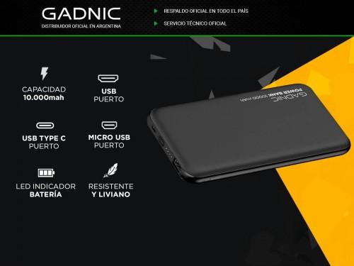 Cargador Portátil Gadnic BC-26 10000 mAh Carga Rápida USB C