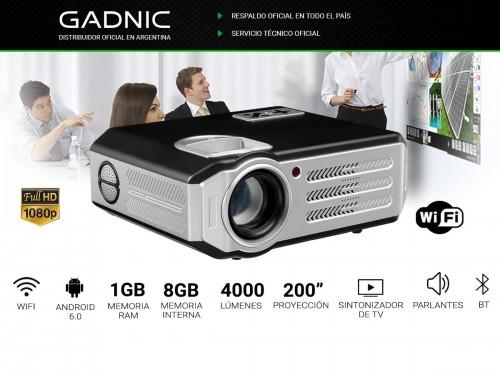 Proyector Gadnic Highlight 4000 Lúmenes Android WiFi Bluetooth