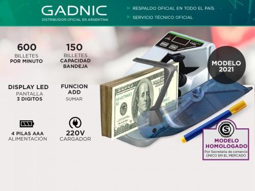 Contadora De Billetes Gadnic P-600 Mini Portátil 600 Bill/Min