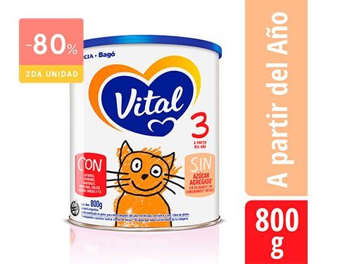 VITAL - Infantil 3 nutri plus lata 800 Grs | FarmaOnline