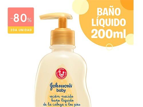 JOHNSONS BABY - Baño liquido recien nacidos 200 ML | FarmaOnline