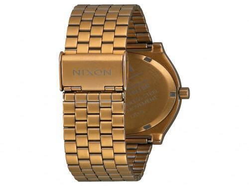 Reloj Analógico Time Teller Palm Dorado y Verde