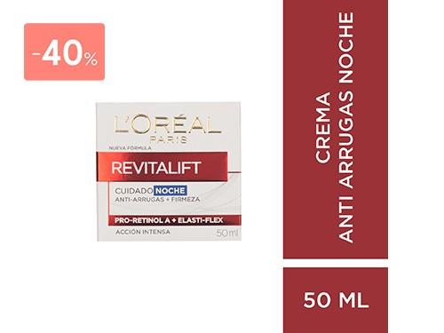 LOREAL - CREMA ANTIARRUGAS REVITALIFT DE NOCHE 50ML | FarmaOnline