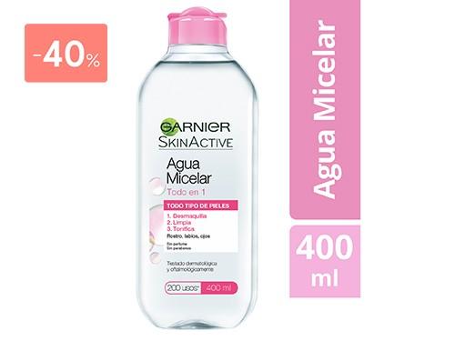 GARNIER - AGUA MICELAR SKIN ACTIVE 400 ML | FarmaOnline