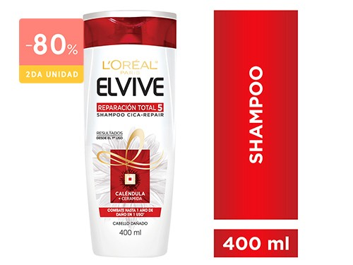 ELVIVE - Shampoo reparacion total 5 400 ML | FarmaOnline